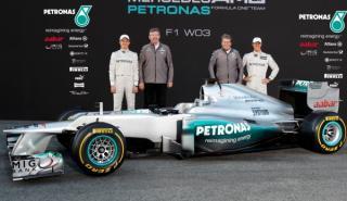 Presentado el nuevo Mercedes F1 W03 de Schumacher y Rosberg