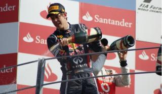 El coche de Sebastian Vettel