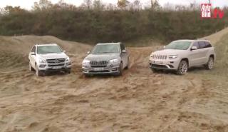 Prueba del BMW X5, Jeep Grand Cherokee y Mercedes ML