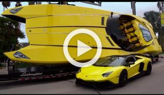 Un Lambo Aventador y su réplica lancha: 3.420 CV en total