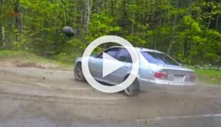 Se lleva una pedrada mientras graba los trompos de un BMW