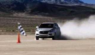 Nuevo récord de velocidad del Hyundai ix35 Fuel Cell