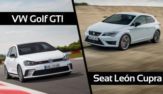 ¿Cuál es mejor, Seat León Cupra 290 o VW Golf GTI?
