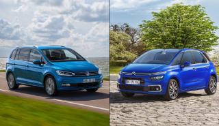 ¿Cuál es mejor, Citroën C4 Picasso 2016 o VW Touran?