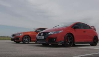 Vídeo: Honda Civic Type R vs BMW M135i