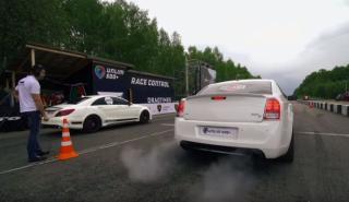 Drag Race: Mercedes CLS 63 AMG vs Chrysler 300C