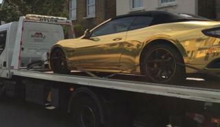 Se llevan el Maserati de un novato por no tener seguro