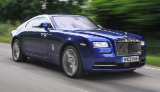 Rolls-Royce Wraith azul coupé gran turismo deportivo