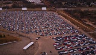 Aquí almacenan los Volkswagen afectados por el Dieselgate