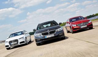 Audi A6 Avant, Mercedes E Estate, BMW Serie 5 Touring