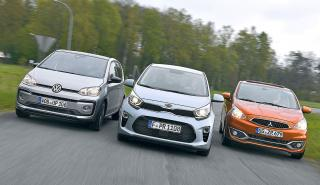 Kia Picanto vs Mitsubishi Space Star y VW Up