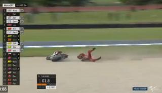 Caída de Jorge Lorenzo en el FP3 del MotoGP Australia 2017