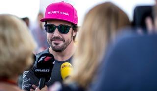 Fernando Alonso, ante la prensa en Austin
