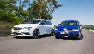 Volkswagen Golf R Variant vs Seat Leon ST Cupra 300