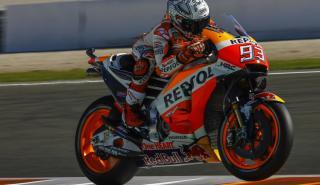 Marc Márquez termina el test de MotoGP en Valencia como el más rápido