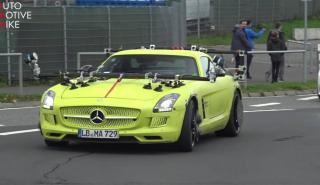 mercedes sls amg electric drive test nurburgring