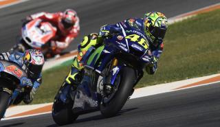 Rossi y Viñales corrieron en Valencia con la Yamaha del 2016
