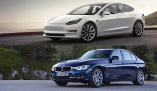 Tesla Model 3 y BMW Serie 3