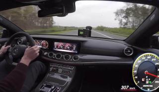Mercedes AMG E63 en la Autobahn