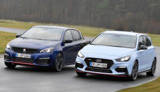 eugeot 308 GTi vs Hyundai i30 N Performance