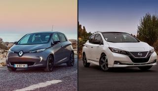Nissan Leaf vs Renault Zoe