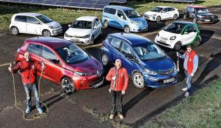 Prueba autonomía 8 coches eléctricos