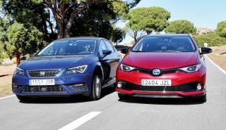 Toyota Auris Hybrid contra Seat León TGI