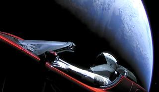 El Tesla Roadster del espacio