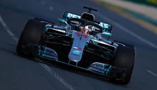 Lewis Hamilton en los Libres 2 de Australia