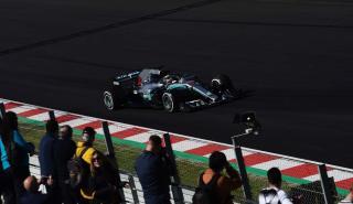 Lewis Hamilton en los test de Barcelona