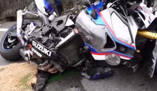 Accidente BMW S 1000 RR y Suzuki GSX-R1000