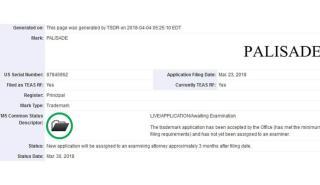 Hyundai patenta Palisade