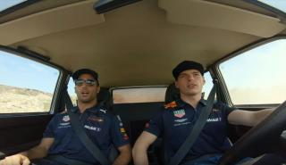 Verstappen Ricciardo Lada Niva