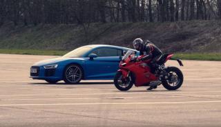 Audi R8 V10 vs Ducati Panigale V4