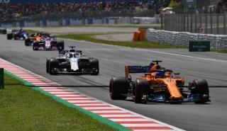 Fernando Alonso en el GP España 2018