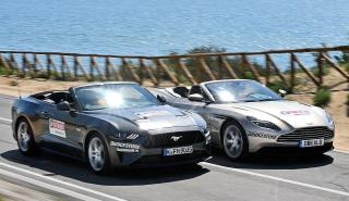 Ford Mustang Convertible vs Aston Martin DB11 Volante