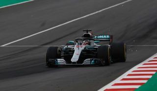 Hamilton en los Libres 3 del GP España