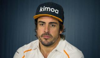Alonso ante la prensa en Francia