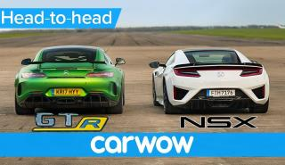 Honda NSX contra Mercedes-AMG GT-R