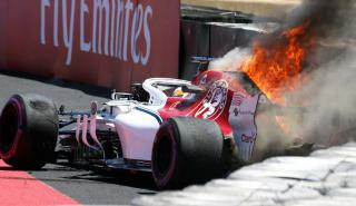 Sauber en llamas GP Francia