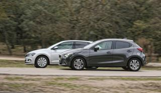 Volkswagen Polo vs Mazda2
