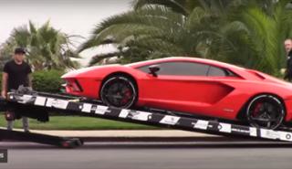 Justin Bieber recibe su nuevo Lamborghini Aventador S