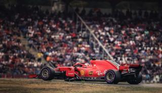 Sebastian Vettel en el GP Alemania 2018