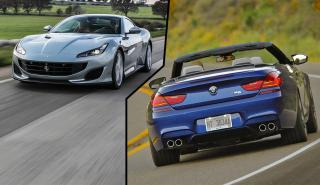 Ferrari Portofino vs BMW M6 Cabrio Competition Package