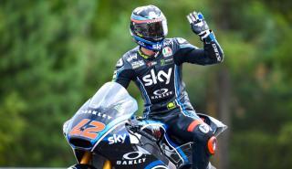 Victoria de Bagnaia en la Carrera Moto2 Austria 2018