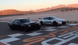 Dodge Challenger SRT Demon vs Nissan GT-R