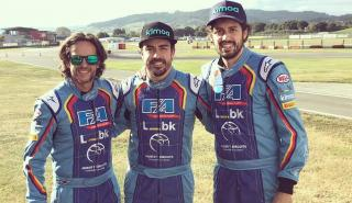 Fernando Alonso, Burgueño y Alberto Fernández