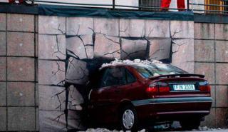 Greenpeace estrella coche en Reina Sofía