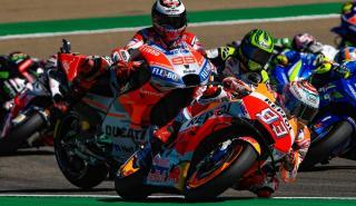 Jorge Lorenzo y Marc Márquez - MotoGP Aragón 2018
