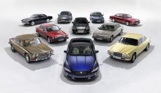 ocho generaciones Jaguar XJ